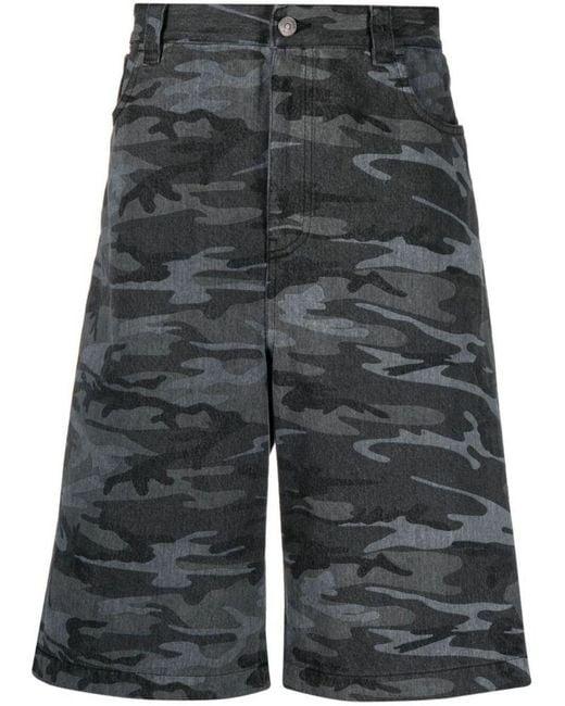 Balenciaga Men's 641464tjw551055 Black Cotton Shorts for men