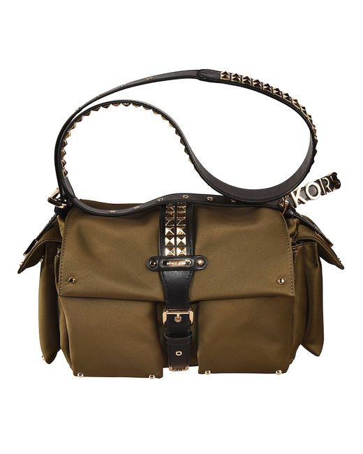 Michael Kors Green Polyester Shoulder Bag