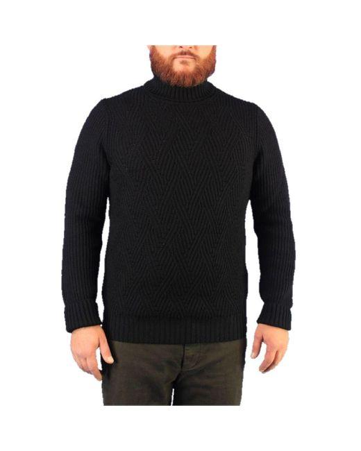 Gran Sasso WOLLE SWEATER in Black für Herren