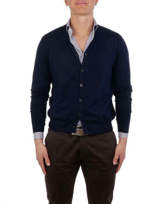 Altea Blue Cotton Cardigan for men