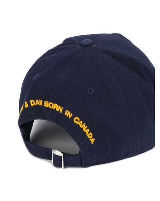 DSquared² Blue Canadian Patch Baseball Cap Navy for men