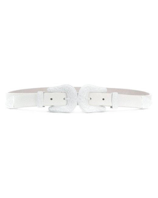 B-Low The Belt White Bt041503 Leather Belt