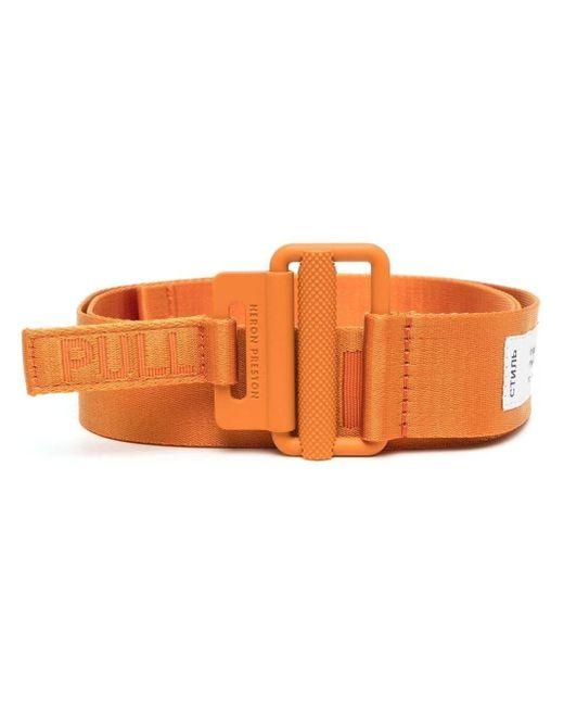 Heron Preston Orange Logo-detail Buckle Belt