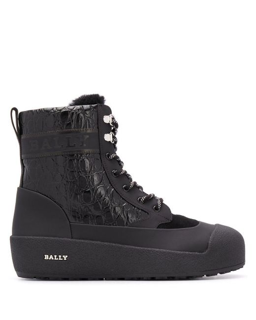Bally Black 62345840100 Leather Ankle Boots for men