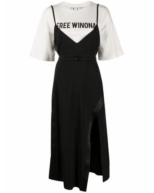 Off-White c/o Virgil Abloh Black Cotton Dress