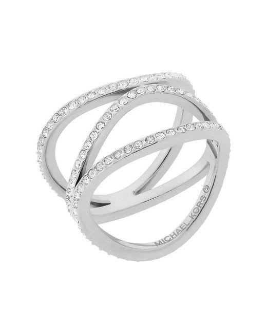Michael Kors Metallic Silver Metal Ring