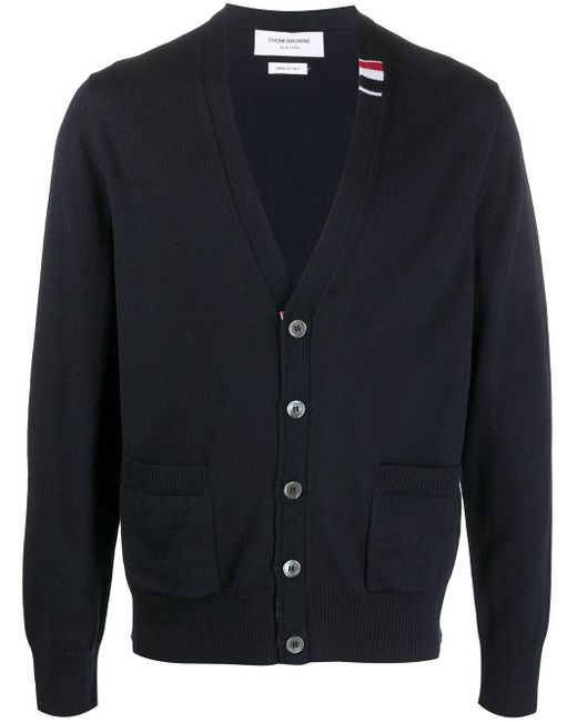 Thom Browne WOLLE STRICKJACKE in Blue für Herren