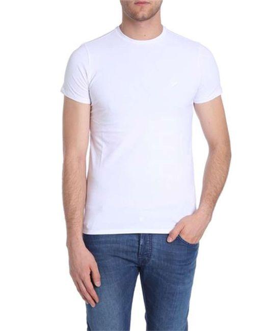 Emporio Armani WEISS BAUMWOLLE T-SHIRT in White für Herren