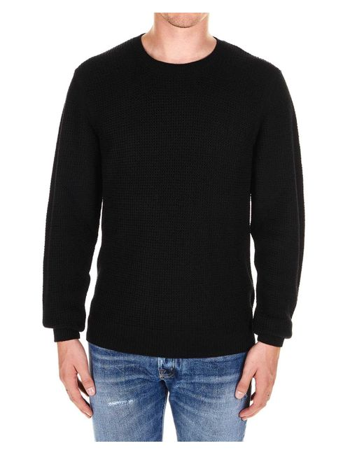 Paolo Pecora Black Wool Sweater for men