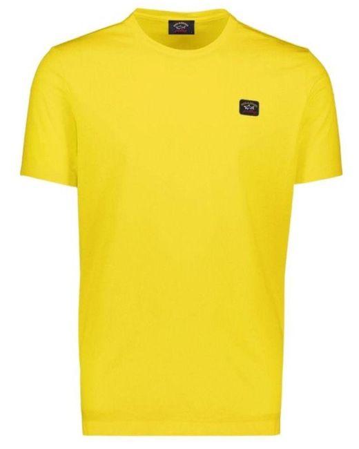 Paul & Shark Yellow Cotton T-shirt for men