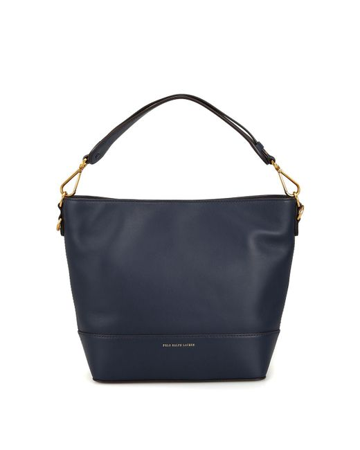 Ralph Lauren Blue Leather Tote