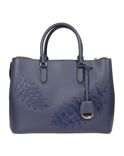 Ralph Lauren Blue Leather Handbag