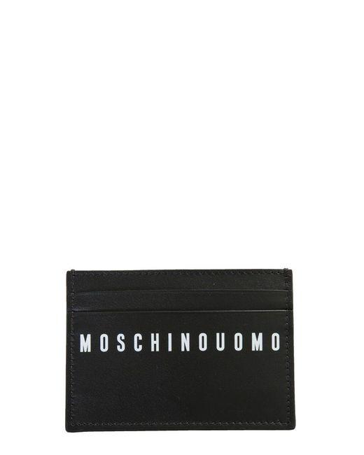 Moschino LEDER KREDITKARTENETUI in Black für Herren
