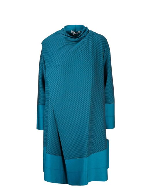 Issey Miyake Blue Polyester Dress