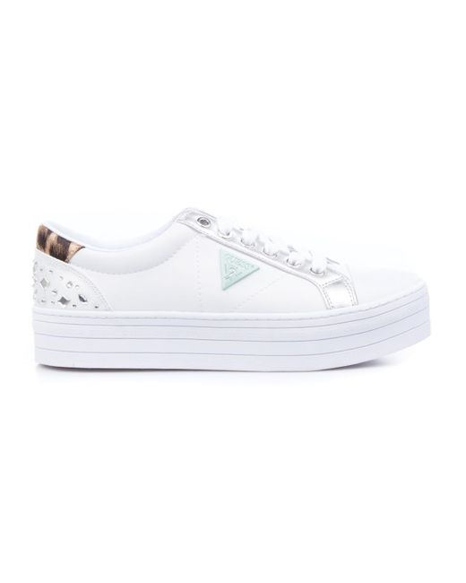 Guess White Other Materials Sneakers