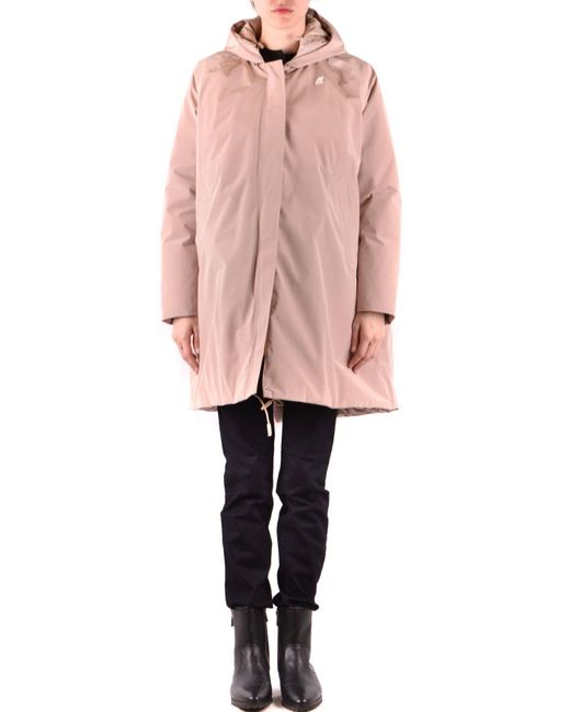 K-Way Natural Beige Polyamide Outerwear Jacket