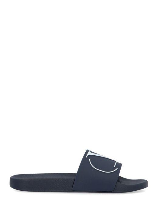 Valentino Blue Rubber Sandals for men