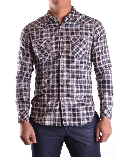 Eleventy Blue Cotton Shirt for men