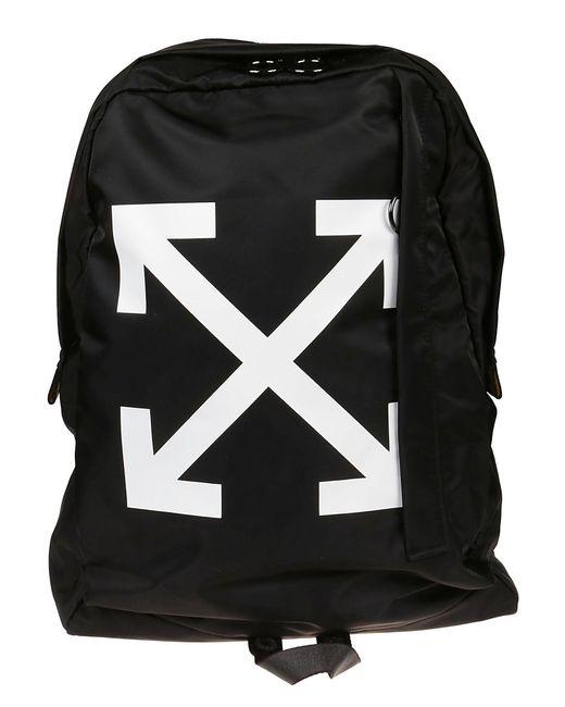 Off-White c/o Virgil Abloh Black Pvc Backpack for men
