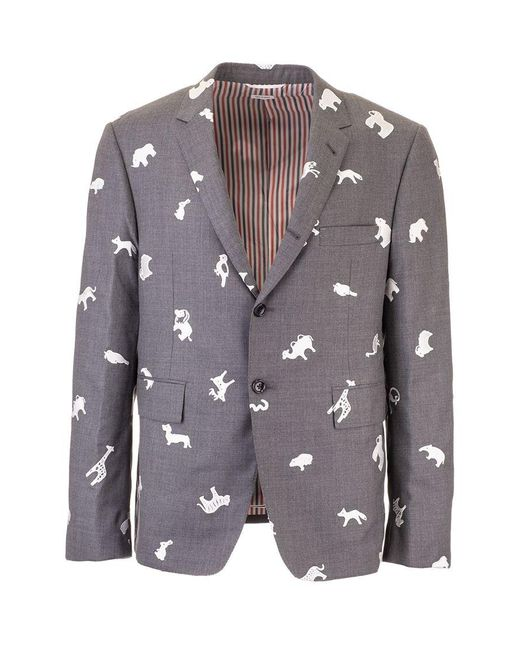 Thom Browne Gray Other Materials Blazer for men