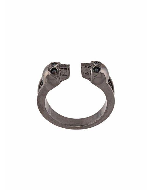 Alexander McQueen METALL RING in Metallic für Herren