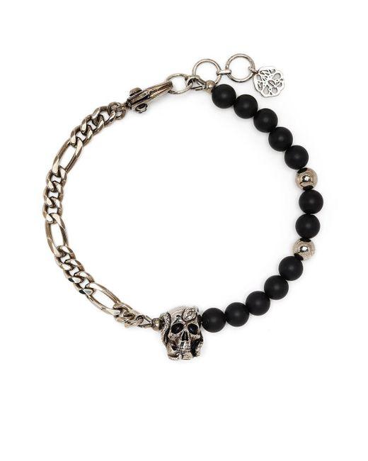Alexander McQueen Black Metal Bracelet for men