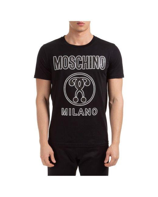 T-shirt con stampa di Moschino in Black da Uomo