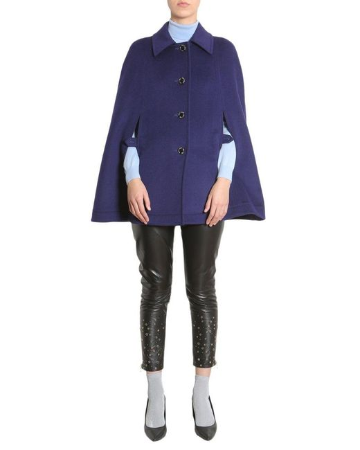 Boutique Moschino Blue BLAU WOLLE TRENCHCOAT