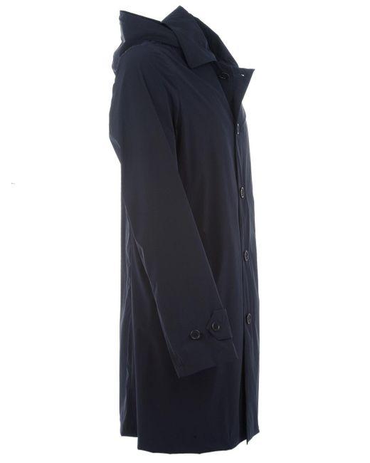 Aspesi Blue Polyamide Coat for men