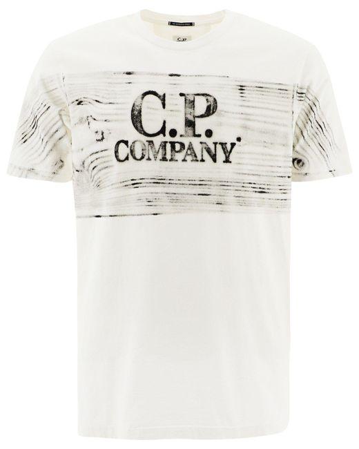 C P Company ANDERE MATERIALIEN T-SHIRT in White für Herren