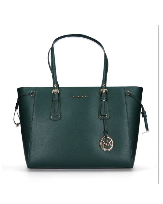 Michael Kors Green Leather Tote