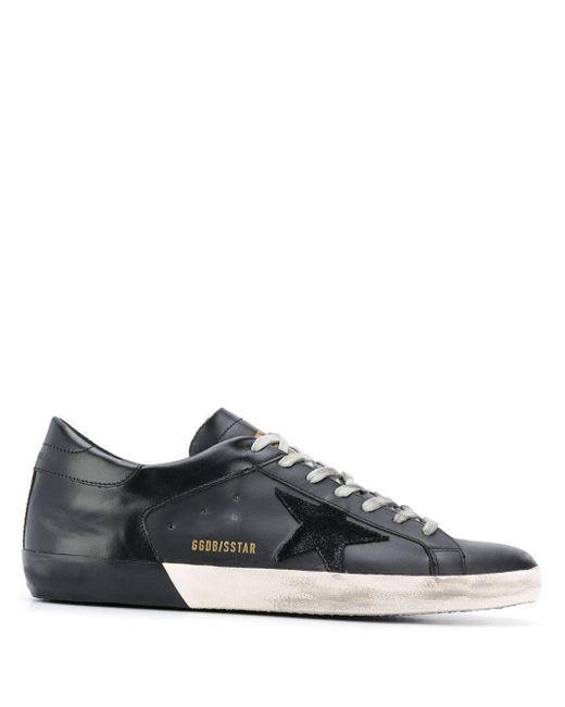Golden Goose Deluxe Brand Black Leather Sneakers for men