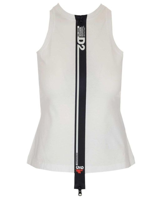 DSquared² White BAUMWOLLE TANK TOP
