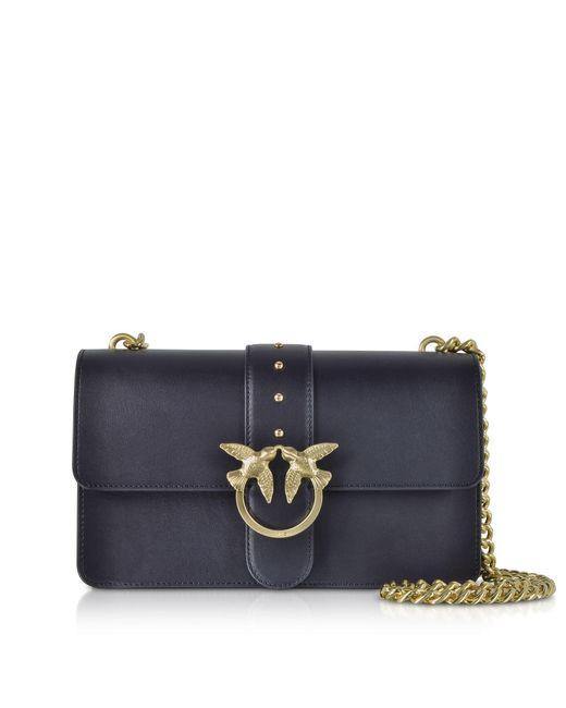 Pinko Blue Leather Shoulder Bag