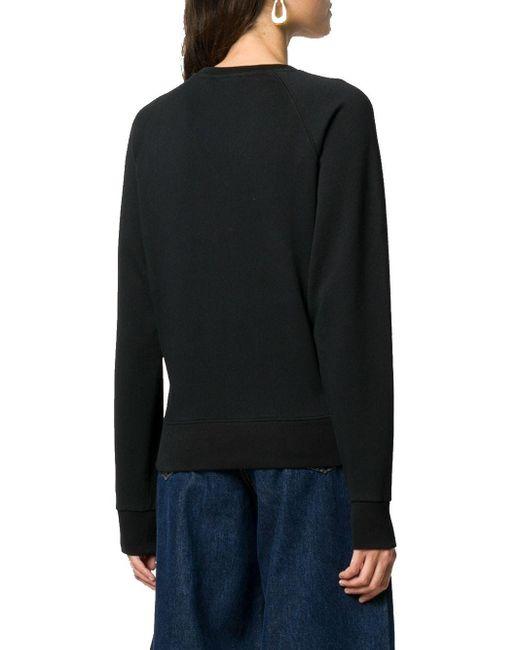 Maison Kitsuné Black Sweatshirt mit Logo-Print