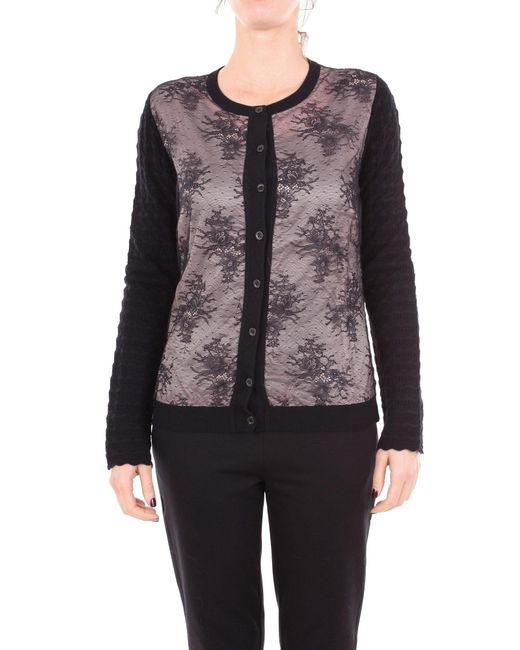 Boutique Moschino Black Wool Cardigan