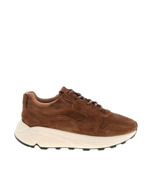 Buttero Brown Suede Sneakers for men