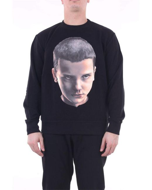 Ih Nom Uh Nit Black Cotton Sweatshirt for men