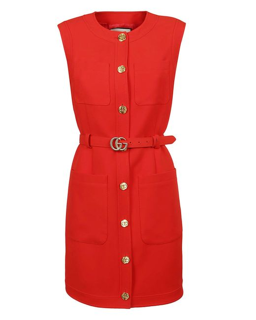 Gucci Red ROT SEIDE WESTE