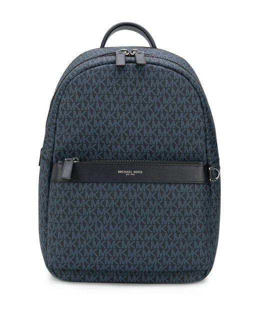 Michael Kors Blue Greyson Eco Leather Backpack for men