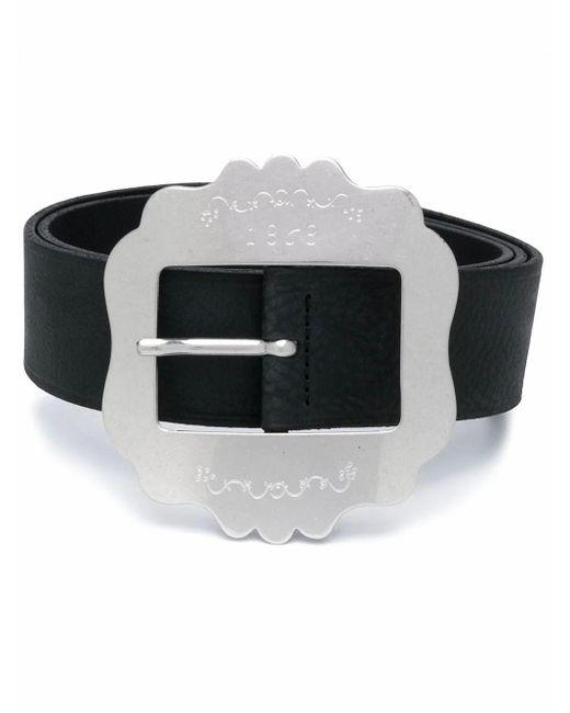 Isabel Marant Black Lewa Square-buckle Belt