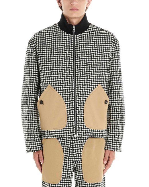 Loewe Multicolor Houndstooth Print Zipped Jacket for men