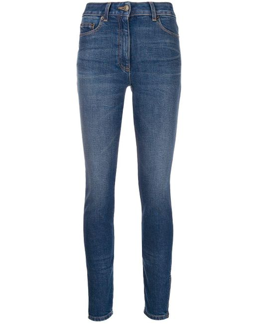 Moschino Blue Faded Skinny Jeans