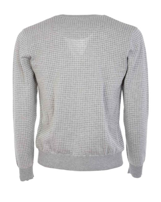 Altea Gray 175124020 Cotton Cardigan for men