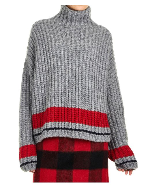 DSquared² Gray Grey Wool Sweater