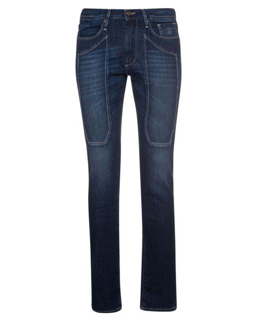 Jeckerson Blue Cotton Jeans for men