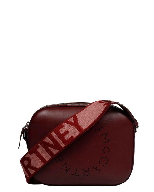 Stella McCartney Red Stella Logo Mini Shoulder Bag