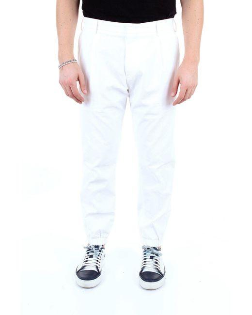 PT01 BAUMWOLLE HOSE in White für Herren
