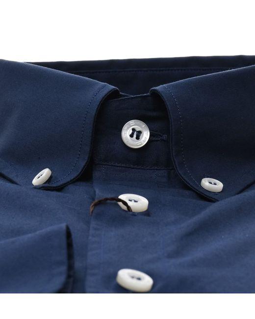 Etro BLAU BAUMWOLLE HEMD in Blue für Herren