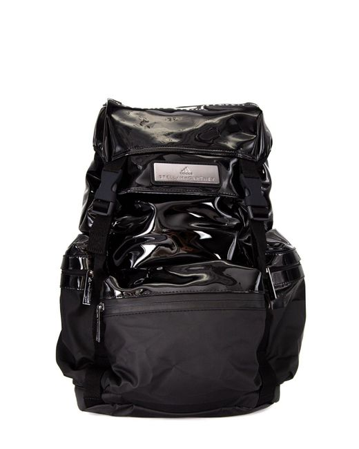 Adidas By Stella McCartney Black Pvc Backpack